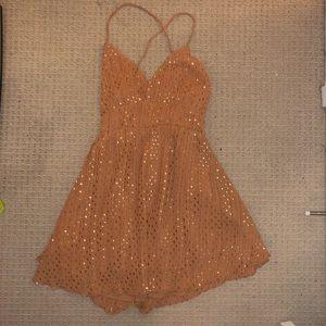 Charlotte Russe Light brown mini dress